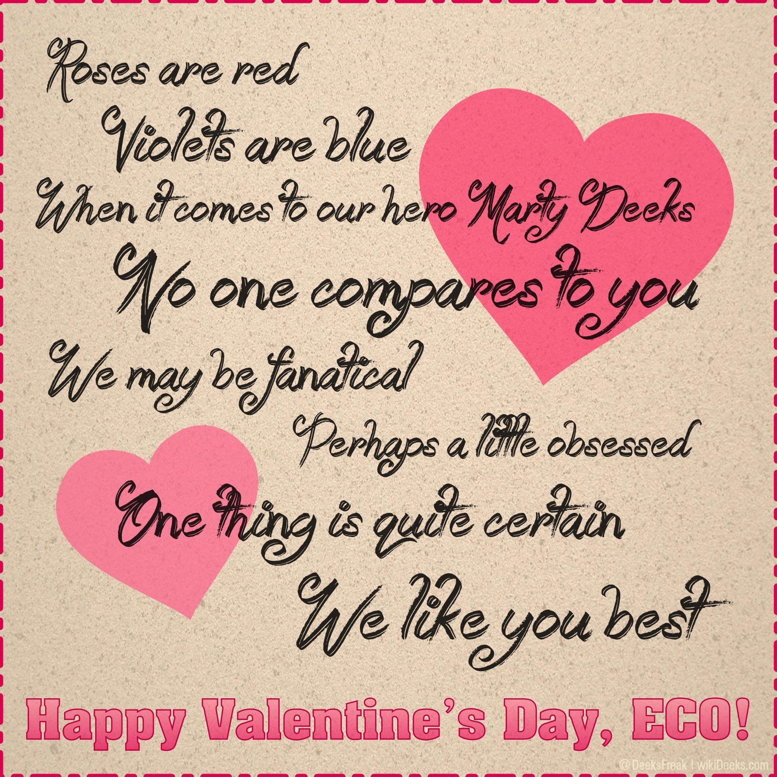Happy Valentine's Day, ECO! – WikiDeeks