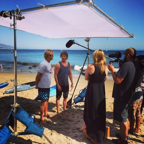 @kristenjane: ET interview with @ericcolsen and Laird Hamilton. Pretty epic day!