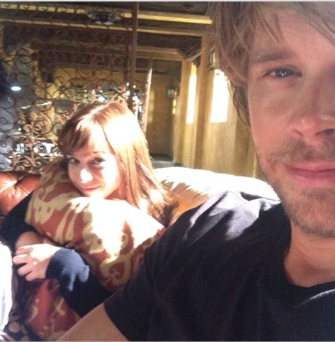 @ericcolsen: My favorite little hamster is back in action. I missed the @reneefelicesmith so much this summer. #thebandisbacktogether #ncisla