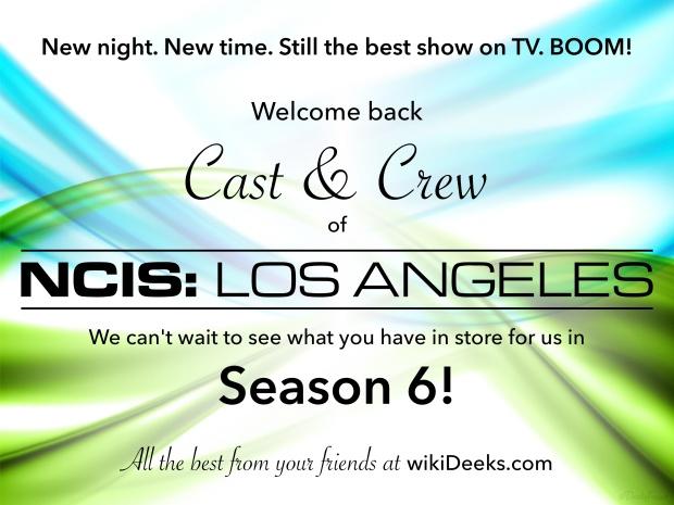 NCISLA Season 6 - Welcome Back