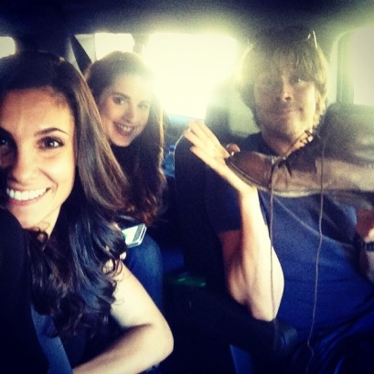 @danielaruah: On our way to the #hollywoodbowl for the #wcs concert tonight! @ericcolsen @kbarkertweets ready for some backstage action!