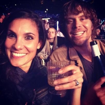 @danielaruah: Listening to @ladyantebellum & enjoying a glass of vino with my #bro @ericcolsen & the best crew ever. @kbarkertweets @kristenjane @christinepark12 #jake @hudsonhawk #lifeisgood #hubbyisworkinlate