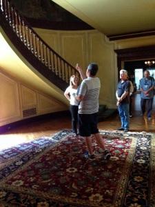 "Erin behind the scenes during the shooting of ""Praesidium"""