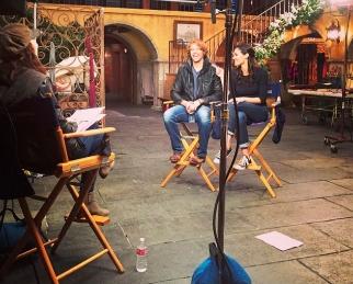 @kbarkertweets: Spending some time w @ericcolsen & @danielaruah chatting Dec & Jan eps of #NCISLA #GoodStuffComing