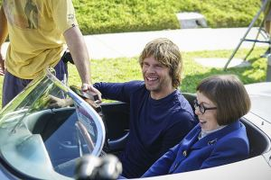 """""""Sirens"""" -- Pictured Behind the Scenes: Eric Christian Olsen (LAPD Liaison Marty Deeks) and Linda Hunt (Henrietta """"Hetty"""" Lange). After an unknown female assailant kills two men disguised as Sherriff's deputies in front of Callen's home, the NCIS team gets a new lead in the ongoing mole investigation. Also, Nell visits a prison to interview an inmate withholding information on the department's leak, on NCIS: LOS ANGELES, Sunday, Nov. 27 (8:30-9:30 PM, ET/8:00-9:00 PM, PT), on the CBS Television Network. Photo: Sonja Flemming/CBS ©2016 CBS Broadcasting, Inc. All Rights Reserved."""