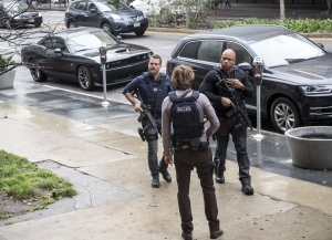 """""""Payback"""" -- Pictured: Chris O'Donnell (Special Agent G. Callen), Eric Christian Olsen (LAPD Liaison Marty Deeks) and LL COOL J (Special Agent Sam Hanna). Emotions run high for  the team as one agent is held in an unknown location and tortured by the mole, while another discovers he was betrayed by someone he least expected, on NCIS: LOS ANGELES, Sunday, Feb. 19 (8:00-9:00 PM, ET/PT), on the CBS Television Network. Photo: Neil Jacobs/CBS ©2017 CBS Broadcasting, Inc. All Rights Reserved."""
